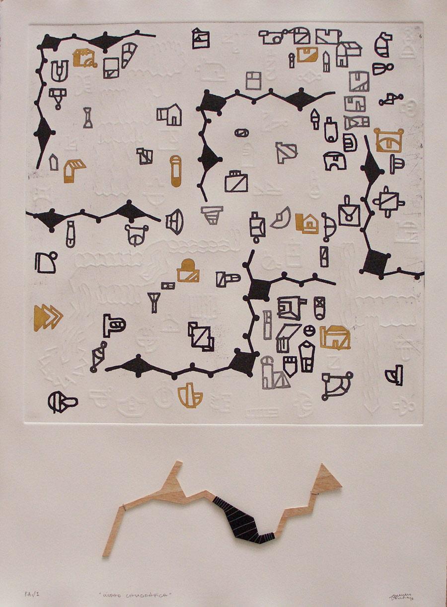 CIUDAD CALIGRÁFICA (Grabado). 76x56cm 2010.